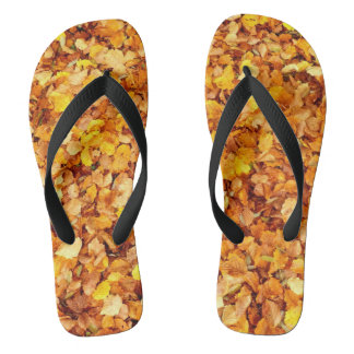 Autumn Leaves Flip Flops