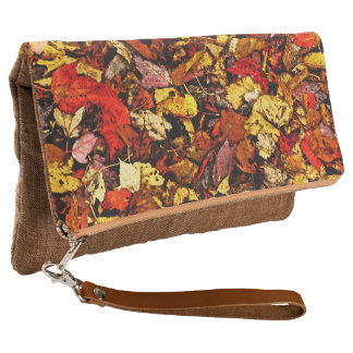 """""""AUTUMN LEAVES"""" FOLD-OVER CLUTCH"""
