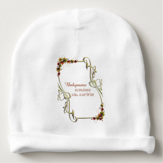 Autumn Leaves Frame Personalized Baby Beanie