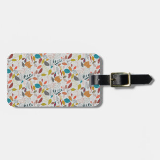 Autumn leaves golden sun luggage tag