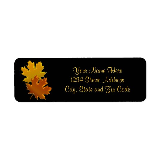 Autumn Leaves Graphic Return Address Label