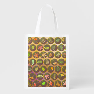 Autumn leaves grocery bags
