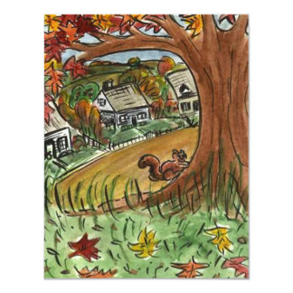AUTUMN LEAVES HOMES HOUSEWARMING PARTY INVITATION
