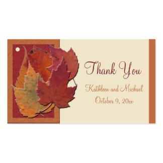 Autumn Leaves II Wedding Favor Tag Business Card