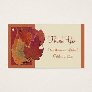Autumn Leaves II Wedding Favor Tag Business Card