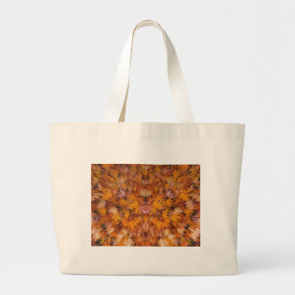 Autumn leaves in abstract large tote bag
