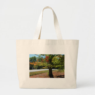 Autumn Leaves in Maine Large Tote Bag