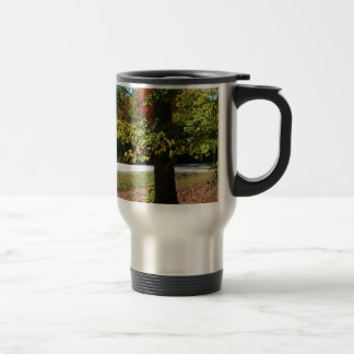 Autumn Leaves in Maine Travel Mug