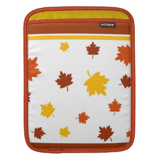Autumn leaves iPad sleeve