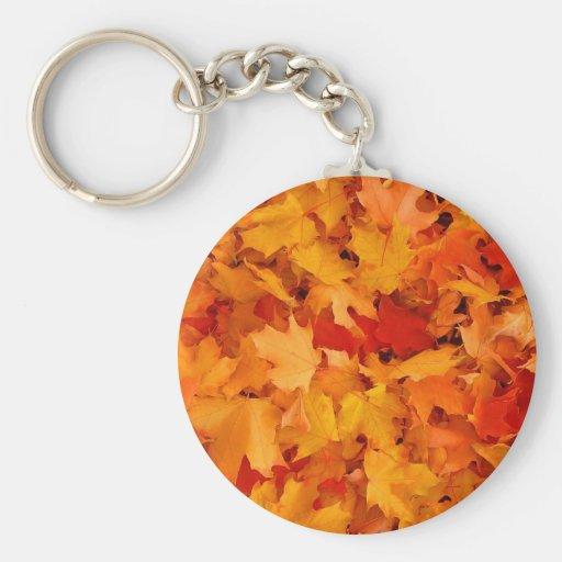 Autumn leaves key chains