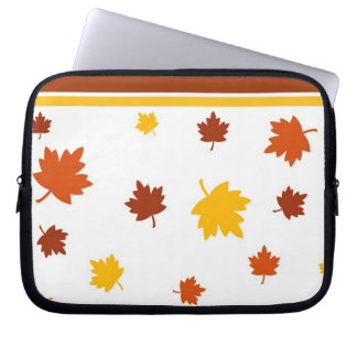 Autumn leaves laptop computer sleeves