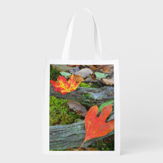 Autumn Leaves Market Bag Reusable Grocery Bags