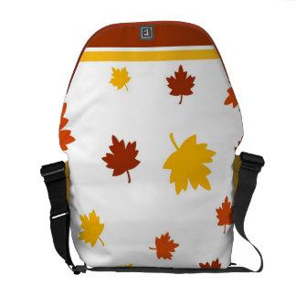 Autumn leaves messenger bags