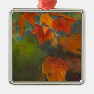 Autumn Leaves Metal Ornament