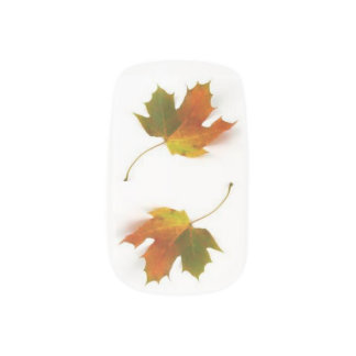 Autumn Leaves Minx Nail Art