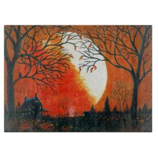 Autumn,leaves,moon,barn,house,owl Boards