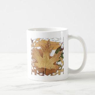 Autumn Leaves Mosaic Frame Coffee Mug