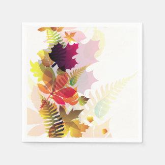 Autumn Leaves Napkins Paper Napkin