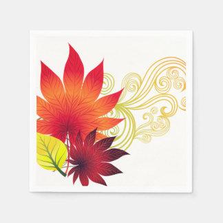 Autumn Leaves Napkins Paper Napkins