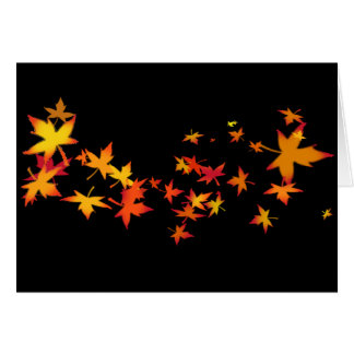 Autumn Leaves of New England Card