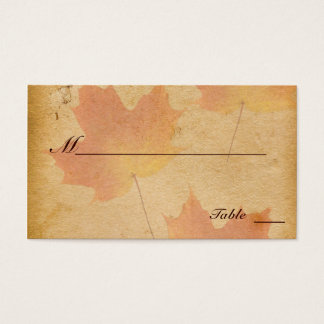 Autumn Leaves on Aged Paper Place Cards