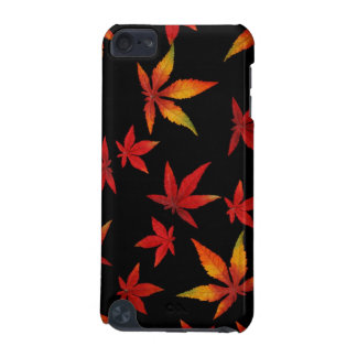 Autumn Leaves on Black iPod Touch Case