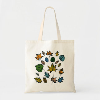 Autumn Leaves on Budget Tote