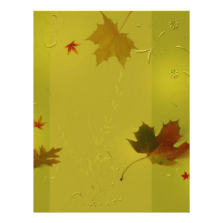 Autumn Leaves Ornaments - Letterhead Stationery