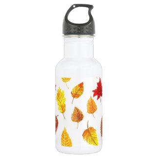 Autumn leaves pattern 532 ml water bottle