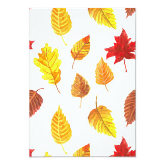 Autumn leaves pattern card