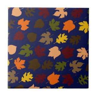 Autumn Leaves Pattern Ceramic Tile