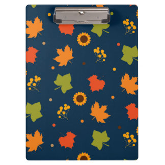 Autumn Leaves Pattern Clipboards