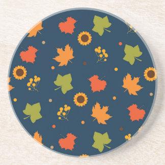 Autumn Leaves Pattern Coaster
