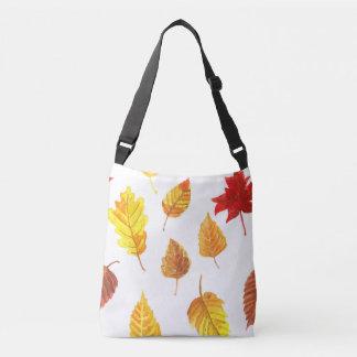 Autumn leaves pattern crossbody bag