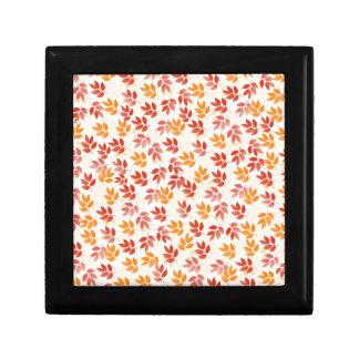Autumn Leaves Pattern Gift Box