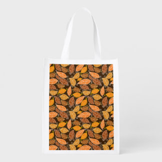 Autumn Leaves Pattern Grocery Bags
