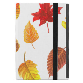 Autumn leaves pattern iPad mini cover