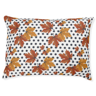Autumn Leaves Pattern Large Dog Bed