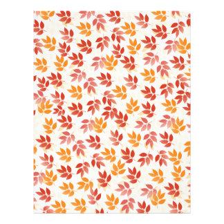 Autumn Leaves Pattern Letterhead