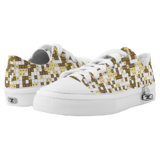 Autumn leaves pattern Low-Top sneakers