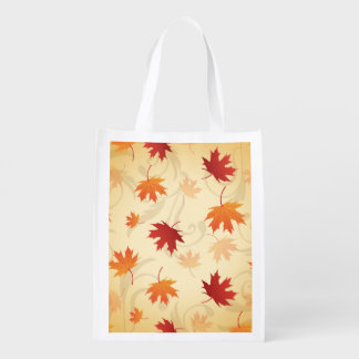 Autumn Leaves Pattern Market Totes