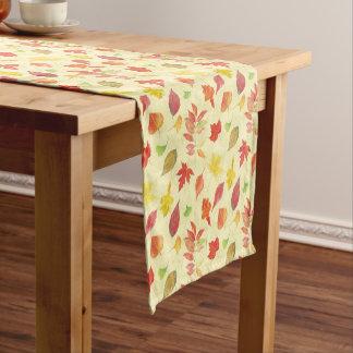 Autumn leaves pattern short table runner