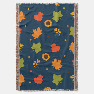 Autumn Leaves Pattern Throw