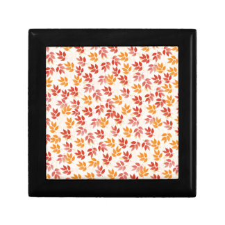 Autumn Leaves Pattern Trinket Box
