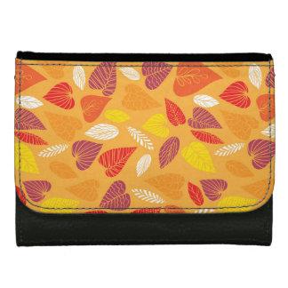 Autumn Leaves Pattern Wallet For Women