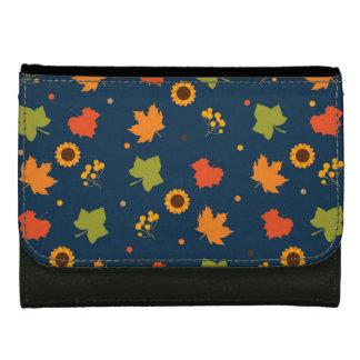 Autumn Leaves Pattern Wallets For Women