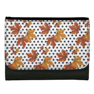 Autumn Leaves Pattern Women's Wallet