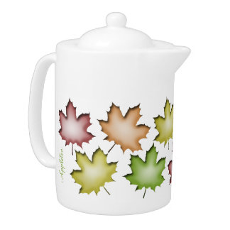 Autumn Leaves - Personalized 44oz Teapot