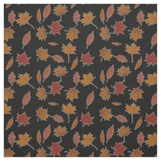 Autumn Leaves Photographic on Custom Color Fabric
