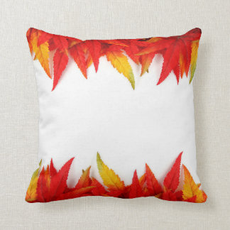 Autumn Leaves Pillow, Fall Red decor Throw Pillow